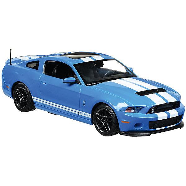 Радиоуправляемая машинка Rastar Ford Shelby GT500 1:14, синяяРадиоуправляемые машины<br>Характеристики:<br><br>• возраст: от 6 лет:<br>• материал: пластик;<br>• масштаб: 1:14;<br>• максимальная скорость: до 12 км/ч;<br>• в комплекте: машина, пульт управления;<br>• тип батареек: 5 батареек АА; 1 батарейка 9V;<br>• наличие батареек: нет в комплекте;<br>• вес упаковки: 1,18 кг.;<br>• размер машины: 32х17х9 см;<br>• размер упаковки: 43,4х22,8х17,7 см;<br>• страна производитель: Китай.<br><br>Быстрый, мощный, спортивный автомобиль Ford Shelby GT500 в копии от Rastar. Управление игрушкой осуществляется с помощью удобного пульта на частоте 27MHz, который позволяет ездить ей во все стороны на расстояние в десятки метров.<br><br>Мощные колеса и амортизация приспособлены к езде не только по ровной поверхности дома, но и на улице по асфальту и бугристой дороге, бросая вызов всем препятствиям. Авто имеет задний привод и разгоняется на ровной дороге до 12 км/ч. Кроме того, когда машина едет вперед, включаются фары, а когда тормозит или сдает назад — стоп-сигналы. <br><br>Мини автомобиль понравится и детям, и взрослым, особенно тем, кто коллекционирует подобные экземпляры.<br><br>Радиоуправляемую машинку Ford Shelby GT500, 1:14 можно купить в нашем интернет-магазине.<br><br>Ширина мм: 434<br>Глубина мм: 228<br>Высота мм: 177<br>Вес г: 1180<br>Возраст от месяцев: 36<br>Возраст до месяцев: 180<br>Пол: Мужской<br>Возраст: Детский<br>SKU: 7345293
