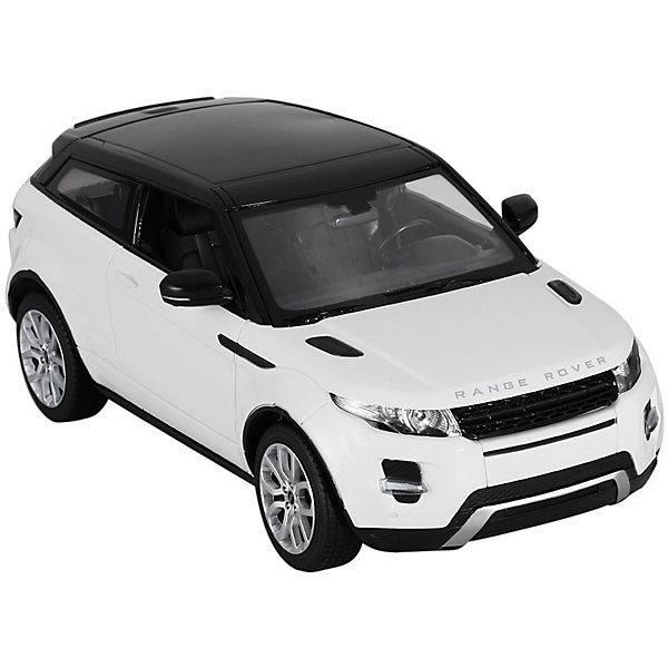 Радиоуправляемая машинка Rastar Range Rover Evoque 1:14, белаяРадиоуправляемые машины<br>Характеристики:<br><br>• возраст: от 8 лет:<br>• материал: пластик;<br>• масштаб: 1:14;<br>• максимальная скорость: до 9 км/ч;<br>• двигатель: электрический;<br>• в комплекте: машина, пульт управления;<br>• тип батареек: 9 батареек АА;<br>• наличие батареек: нет в комплекте;<br>• вес упаковки: 2,08 кг.;<br>• размер упаковки: 47х38х35 см;<br>• страна производитель: Китай.<br><br>Масштабная копия легендарного автомобиля ? радиоуправляемая машинка Rastar Range Rover Evoque увлечет в мир больших скоростей и приключений на дорогах.<br><br>Игрушка управляется с помощью удобного пульт-руля на частоте 27MHz и может от него отдаляться на расстояние до 45 м. Машина обладает отличной маневренностью, ездит в четырех направлениях и при этом издает звуковые сигналы.<br><br>Range Rover Evoque имеет задний привод и разгоняется на ровной дороге до 9 км/ч. Преодолевать препятствия на улице будет одно удовольствие! Кроме того, когда машина едет вперед, включаются фары, а когда тормозит или сдает назад — стоп-сигналы.<br><br>Радиоуправляемую машинку Rastar Range Rover Evoque, 1:14 можно купить в нашем интернет-магазине.<br>Ширина мм: 470; Глубина мм: 380; Высота мм: 350; Вес г: 2079; Возраст от месяцев: 36; Возраст до месяцев: 180; Пол: Мужской; Возраст: Детский; SKU: 7345299;