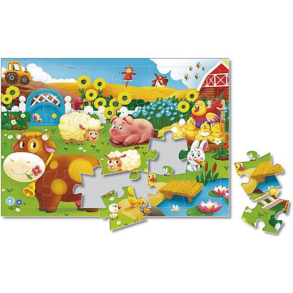 Пазл листовой на подложке. Животные на ферме. 24 детали. 21х29,5 см. ГЕОДОМПазлы для малышей<br>Характеристики товара:<br><br>• ISBN:4607177454443;<br>• возраст: от 3 лет;<br>•материал: картон;<br>• количество элементов: 24;<br>• размер собранной картины: 21х29,5 см.;<br>• упаковка:картонная коробка.; <br>• размер упаковки:30х21,5х0,5 см.; <br>• вес: 132 гр.;<br>• издательство:   ГеоДом;<br>• страна: Россия.<br><br>Пазл листовой на подложке «Животные на ферме» из серии «Новый год» от российского издательства ГеоДом состоит 24 крупных и ярких элементов, собрав которые, малыш получит красивую картину с изображение животных, обитающих на ферме. <br><br>В комплект добавлена картинка, по образцу которой малыш будет собирать пазл. Насыщенная цветовая палитра и крепкая подложка помогут ему в собирании данного рисунка. Пазл выполнен из высококачественных материалов, что обеспечивает идеальное прилегание элементов друг к другу. <br><br>Собирание пазлов это не только интересно, но и полезно: ведь в процессе создания картинки развивается мелкая моторика, тренируются наблюдательность и логическое мышление.<br><br>Пазл листовой на подложке «Животные на ферме», 24  элемента, Изд. ГеоДом  можно купить в нашем интернет-магазине.<br>Ширина мм: 300; Глубина мм: 215; Высота мм: 4; Вес г: 132; Возраст от месяцев: 36; Возраст до месяцев: 2147483647; Пол: Унисекс; Возраст: Детский; SKU: 7345484;