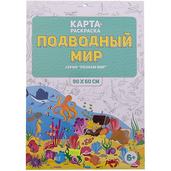 Раскраска в конверте. Подводный мир. Серия Познаю мир. 90х60 см. ГЕОДОМРаскраски для детей<br>Характеристики товара:<br><br>• ISBN: 4607177454627;<br>• возраст: от 6 лет;<br>• иллюстрации: черно-белые;<br>• состав: ламинированная бумага;<br>• размеры раскраски: 90х60 см.; <br>• упаковка: конверт;<br>• размеры упаковки: 32,5х22х1,5 см.;<br>• вес: 108 гр.;<br>• издательство:   ГеоДом;<br>• страна: Россия.<br><br>Раскраска в конверте «Подводный мир» из серии «Я познаю мир» - это не просто раскраска, а огромное детское полотно для творчества! <br><br>Раскраска подарит новые впечатления и увлечет вашего ребенка. Сюжет раскраски будет интересен и мальчикам и девочкам, поможет  узнать много нового о многообразном мире живой природы в глубинах морей и океанов. <br><br>Настенная, напольная или настольная раскраска — используйте как вам больше нравится! Рисуем с родителями, братьями, сестрами — всей семьёй! Можно рисовать гуашью, акварелью, пальчиковыми красками, фломастерами и карандашами. Дополнительно дан вкладыш с названиями объектов на карте<br><br>Раскраску в конверте «Подводный мир» , 90х60 см., Изд. ГеоДом  можно купить в нашем интернет-магазине.<br><br>Ширина мм: 325<br>Глубина мм: 223<br>Высота мм: 1<br>Вес г: 108<br>Возраст от месяцев: 72<br>Возраст до месяцев: 2147483647<br>Пол: Унисекс<br>Возраст: Детский<br>SKU: 7345502