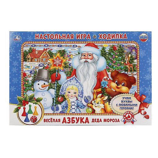 Настольная игра-ходилка Умка Веселая азбука Деда МорозаНастольные игры ходилки<br>Характеристики:<br><br>• размер упаковки: 3х21х33 см.;<br>• упаковка: коробка;<br>• состав: картон;<br>• вес: 150 г.;<br>• для детей в возрасте: от 5 лет;<br>• страна производитель: Россия<br><br>Игра-ходилка «Весёлая азбука Деда Мороза» издательства «Умка» прекрасный подарок для мальчишек и девчонок. В новой игре можно отправиться в волшебное путешествие с любимыми героями по Новогоднему игровому полю. Передвигаться нужно с помощью четырёх разноцветных фишек и кубика. Каждый ход-это буква алфавита.<br><br>Играть в игру можно всей семьёй или пригласить друзей. В ней могут учавствовать от двух до четырёх игроков.<br><br>Играя дети развивают не только память, внимательность, логическое и пространственное мышление, моторику рук, усидчивость, терпение, но просто весело и с пользой проведут время.<br><br>Игру-ходилку «Весёлая азбука Деда Мороза», можно приобрести в нашем интернет-магазине.<br><br>Ширина мм: 2100<br>Глубина мм: 300<br>Высота мм: 3300<br>Вес г: 150<br>Возраст от месяцев: 60<br>Возраст до месяцев: 84<br>Пол: Унисекс<br>Возраст: Детский<br>SKU: 7345738