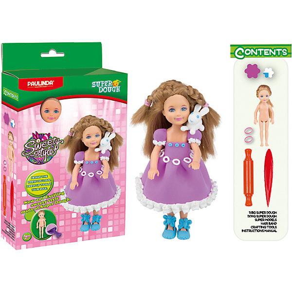 Масса для лепки Paulinda Создай свой стиль: Наряд для куклы, Белый кроликНаборы стилиста и дизайнера<br>Характеристики:<br><br>• набор для лепки;<br>• создание нарядов из пластилина для куклы;<br>• развитие фантазии, образного мышления, мелкой моторики пальчиков;<br>• содержимое набора: кукла 14 см, масса для лепки, аксессуары для работы с массой; <br>• размер упаковки: 16х5х28,5 см;<br>• вес: 275 г.<br><br>Создание одежки для куколки – увлекательное и творческое занятие. Девочка использует массу для лепки, наличие в наборе разных цветов которой дают возможность совмещать и комбинировать. Куколка высотой 14 см с пластиковым туловищем и конечностями имеет нейлоновые волосы, которые можно легко расчесывать и создавать прически. В процессе игры развивается способность творчески мыслить, создавать фантастические наряды для куклы и декорировать готовые изделия. <br><br>Массу для лепки «Создай свой стиль», набор для создания наряда для куклы Paulinda можно купить в нашем интернет-магазине.<br>Ширина мм: 160; Глубина мм: 48; Высота мм: 285; Вес г: 275; Возраст от месяцев: 60; Возраст до месяцев: 180; Пол: Женский; Возраст: Детский; SKU: 7345757;