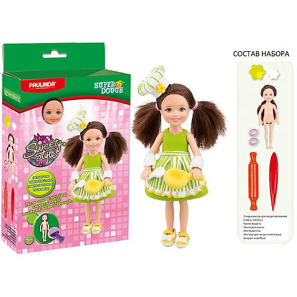 Масса для лепки Paulinda Создай свой стиль: Наряд для куклы, ПоварНаборы стилиста и дизайнера<br>Характеристики:<br><br>• набор для лепки;<br>• создание нарядов из пластилина для куклы;<br>• развитие фантазии, образного мышления, мелкой моторики пальчиков;<br>• содержимое набора: кукла 14 см, масса для лепки, аксессуары для работы с массой; <br>• размер упаковки: 16х5х28,5 см;<br>• вес: 275 г.<br><br>Создание одежки для куколки – увлекательное и творческое занятие. Девочка использует массу для лепки, наличие в наборе разных цветов которой дают возможность совмещать и комбинировать. Куколка высотой 14 см с пластиковым туловищем и конечностями имеет нейлоновые волосы, которые можно легко расчесывать и создавать прически. В процессе игры развивается способность творчески мыслить, создавать фантастические наряды для куклы и декорировать готовые изделия. <br><br>Массу для лепки «Создай свой стиль», набор для создания наряда для куклы Paulinda можно купить в нашем интернет-магазине.<br>Ширина мм: 160; Глубина мм: 48; Высота мм: 285; Вес г: 275; Возраст от месяцев: 60; Возраст до месяцев: 180; Пол: Женский; Возраст: Детский; SKU: 7345760;