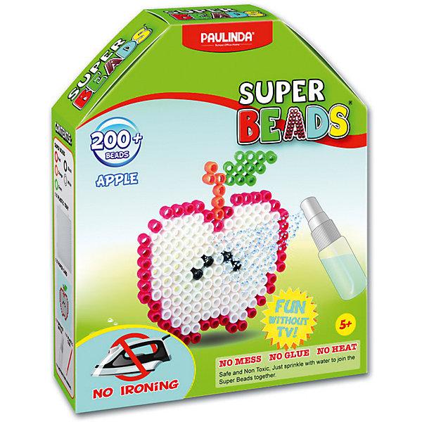 Мозаика Paulinda Super Beads ЯблокоМозаика детская<br>Характеристики:<br><br>• мозаика – набор для развития мелкой моторики;<br>• детали мозаики выкладываются на шаблон;<br>• готовая конструкция опрыскивается водой из пульверизатора;<br>• детали мозаики склеиваются друг с другом;<br>• получается плоская фигурка;<br>• комплект набора: более 200 деталей, 1 планшет-основа, пульверизатор для воды, инструмент для работы;<br>• для склеивания утюг не требуется;<br>• материал: пластик;<br>• размер упаковки: 14,5х4х17,5 см;<br>• вес: 135 г.<br><br>Набор для детского творчества Paulinda предлагает детям старше 5 лет изготовить плоские фигурки из мозаики. В наборе имеется шаблон, на котором выкладывается аппликация из цветных деталей мозаики. В процессе игры развивается сосредоточенность, внимание, координация движений, цветовосприятие. <br><br>Мозаику Яблоко Paulinda, более 200 деталей, без использования утюга, можно купить в нашем интернет-магазине.<br>Ширина мм: 145; Глубина мм: 40; Высота мм: 175; Вес г: 135; Возраст от месяцев: 60; Возраст до месяцев: 120; Пол: Унисекс; Возраст: Детский; SKU: 7345761;