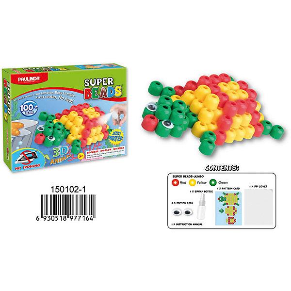 3D мозаика Paulinda Super Beads ЧерепахаМозаика детская<br>Характеристики:<br><br>• мозаика – набор для развития мелкой моторики;<br>• детали мозаики выкладываются на шаблон;<br>• готовая конструкция опрыскивается водой из пульверизатора;<br>• детали мозаики склеиваются друг с другом;<br>• получается объемная фигурка;<br>• комплект набора: 1 планшет-основа, пульверизатор для воды, инструмент для работы, более 100 деталей, пара глаз (двигающиеся);<br>• для склеивания утюг не требуется;<br>• материал: пластик;<br>• размер упаковки: 19,2х4,7х15,2 см;<br>• вес: 150 г.<br><br>Набор для детского творчества Paulinda предлагает детям старше 5 лет изготовить объемные фигурки из мозаики. В наборе имеется шаблон, на котором выкладывается аппликация из цветных деталей мозаики. В процессе игры развивается сосредоточенность, внимание, координация движений, цветовосприятие. <br><br>Мозаику 3D «Черепаха», более 100 деталей, без использования утюга можно купить в нашем интернет-магазине.<br>Ширина мм: 192; Глубина мм: 47; Высота мм: 152; Вес г: 150; Возраст от месяцев: 60; Возраст до месяцев: 120; Пол: Унисекс; Возраст: Детский; SKU: 7345764;