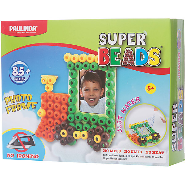 3D мозаика Paulinda Super Beads ПоездМозаика детская<br>Характеристики:<br><br>• мозаика – набор для развития мелкой моторики;<br>• детали мозаики выкладываются на шаблон;<br>• готовая конструкция опрыскивается водой из пульверизатора;<br>• детали мозаики склеиваются друг с другом;<br>• получается фоторамка из мозаики;<br>• комплект набора: 1 фоторамка-основа, пульверизатор для воды, инструмент для работы, более 85 деталей;<br>• для склеивания утюг не требуется;<br>• материал: пластик;<br>• размер упаковки: 19,2х4,7х15,2 см;<br>• вес: 150 г.<br><br>Набор для детского творчества Paulinda предлагает детям старше 5 лет изготовить фоторамку из мозаики. В наборе имеется шаблон, на котором выкладывается аппликация из цветных деталей мозаики. В процессе игры развивается сосредоточенность, внимание, координация движений, цветовосприятие. <br><br>Мозаику 3D «Поезд», более 85 деталей, без использования утюга можно купить в нашем интернет-магазине.<br>Ширина мм: 192; Глубина мм: 47; Высота мм: 152; Вес г: 150; Возраст от месяцев: 60; Возраст до месяцев: 120; Пол: Унисекс; Возраст: Детский; SKU: 7345767;