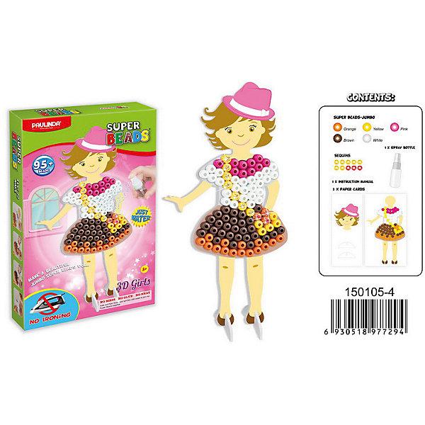 3D мозаика Paulinda Super Beads Сздай свой платье, платье с сумочкойМозаика детская<br>Характеристики:<br><br>• мозаика – набор для развития мелкой моторики;<br>• детали мозаики выкладываются на шаблон;<br>• готовая конструкция опрыскивается водой из пульверизатора;<br>• детали мозаики склеиваются друг с другом;<br>• получается куколка из картона, которая одета в дизайнерское платье из мозаики;<br>• комплект набора: 10 блесток, 2 картонные основы, 1 пульверизатор для воды, 1 клей, инструкция, более 95 деталей;<br>• для склеивания утюг не требуется;<br>• материал: пластик;<br>• размер упаковки: 16,5х3,7х26,7 см;<br>• вес: 233 г.<br><br>Набор для детского творчества Paulinda предлагает детям старше 5 лет изготовить плтье из мозаики. В наборе имеется шаблон, на котором выкладывается аппликация из цветных деталей мозаики. В процессе игры развивается сосредоточенность, внимание, координация движений, цветовосприятие. <br><br>Мозаику 3D «Создай свое платье», более 95 деталей, без использования утюга можно купить в нашем интернет-магазине.<br>Ширина мм: 165; Глубина мм: 37; Высота мм: 267; Вес г: 233; Возраст от месяцев: 60; Возраст до месяцев: 120; Пол: Женский; Возраст: Детский; SKU: 7345771;