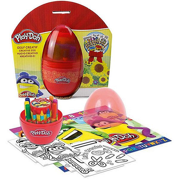 Набор Play doh Сюрприз в яйцеНаборы для лепки игровые<br>Характеристики товара:<br><br>• возраст: от 3 лет;<br>• пол: для девочек и мальчиков;<br>• комплектация: 6 маркеров, 6 восковых мелков, 6 листов бумаги, паста для лепки;<br>• из чего сделана игрушка (состав): пластик, паста, бумага;<br>• размер упаковки: 18х9х19 см.;<br>• вес: 260 гр.;<br>• упаковка: пластиковое яйцо;<br>• страна обладатель бренда: США.<br><br>Набор «Сюрприз в яйце» компактно упакованн в специальный контейнер в виде яйца, внутри него скрывается целая творческая лаборатория. <br><br>Ребенок сможет порисовать мелками или фломастерами, а также слепить какую-нибудь небольшую фигурку, используя фирменный пластилин.<br><br>Набор изготовлен из безопасных в использовании, качественных материалов.<br><br>Применение набора позволяет ребенку потренировать мелкую моторику рук, пофантазировать, стать более аккуратным и внимательным к мелким деталям.<br><br>Набор «Сюрприз в яйце» можно купить в нашем интернет-магазине.<br>Ширина мм: 180; Глубина мм: 90; Высота мм: 190; Вес г: 260; Возраст от месяцев: 36; Возраст до месяцев: 120; Пол: Унисекс; Возраст: Детский; SKU: 7359096;