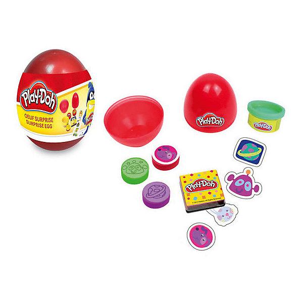 Набор Play doh Необычное яйцоНаборы для лепки игровые<br>Характеристики товара:<br><br>• возраст: от 3 лет;<br>• пол: для девочек и мальчиков;<br>• комплектация: 5 наклеек, паста для лепки, 3 марки, блокнот;<br>• из чего сделана игрушка (состав): тесто, бумага, картон;<br>• размер упаковки: 6,5х6,5х8,5 см.;<br>• вес: 70 гр.;<br>• упаковка: пластиковое яйцо;<br>• страна обладатель бренда: Франция.<br><br>Набор «Необычное яйцо» от бренда Darpeje понравится детям, которые любят мастерить поделки своими руками.<br><br>В комплект для творчества входят баночка с тестом для лепки, блокнот, 5 наклеек и 3 вида марок. Все составляющие упакованы в пластиковую коробку, напоминающую красное яйцо. <br><br>Весь набор выполнен в космической тематике.<br><br>Применение набора позволяет ребенку потренировать мелкую моторику рук, пофантазировать, стать более аккуратным и внимательным к мелким деталям.<br><br>Набор «Необычное яйцо» можно купить в нашем интернет-магазине.<br>Ширина мм: 65; Глубина мм: 65; Высота мм: 85; Вес г: 70; Возраст от месяцев: 36; Возраст до месяцев: 120; Пол: Унисекс; Возраст: Детский; SKU: 7359097;