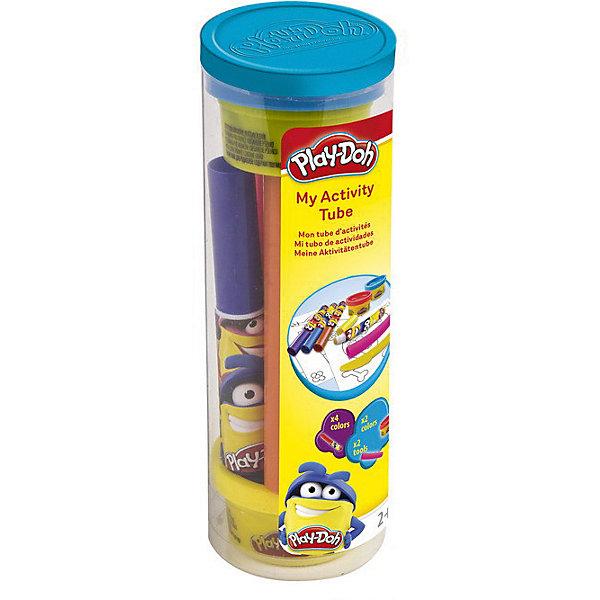 Набор Play doh Туба для творчестваНаборы для лепки игровые<br>Характеристики товара:<br><br>• возраст: от 3 лет;<br>• пол: для девочек и мальчиков;<br>• комплектация: 4 маркера, линейка, 2 цвета пасты для лепки, 4 листа бумаги;<br>• из чего сделана игрушка (состав): пластик, паста, бумага;<br>• размер упаковки: 5,5х5,5х16,5 см.;<br>• вес: 180 гр.;<br>• упаковка: тубус;<br>• страна обладатель бренда: Франция.<br><br>Набор для творчества Play Doh от бренда Darpeje позволит ребенку проявить воображение и фантазию. <br><br>Юный мастер сможет создавать неповторимые картинки, состоящие из рисунков, которые можно дополнить объемными или плоскими фигурками из мягкого пластилина. <br><br>Фломастеры и пластилин, входящие в набор, представлены яркими цветами, наиболее популярными у детей дошкольного возраста.  <br><br>Набор «Туба для творчества» можно купить в нашем интернет-магазине.<br>Ширина мм: 55; Глубина мм: 55; Высота мм: 165; Вес г: 180; Возраст от месяцев: 36; Возраст до месяцев: 120; Пол: Унисекс; Возраст: Детский; SKU: 7359102;