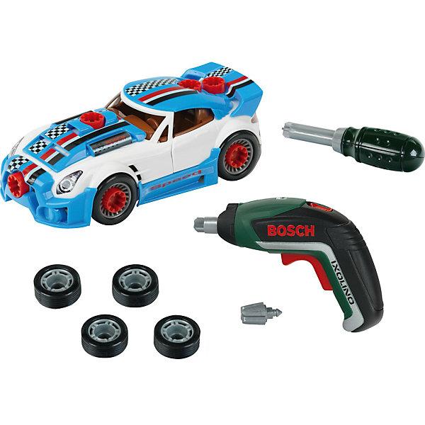 Игровой набор Klein Bosch Тюниг-ателье с машиной и шуруповертомМашинки<br>Характеристики товара:<br><br>• в комплекте: машина, шуруповерт, отвертка, 3 насадки, 4 запасных колеса, 6 аксессуаров для тюнинга;<br>• возраст: от 3 лет;<br>• батарейки: ААА - 2 шт. (не входят в комплект);<br>• материал: пластик;<br>• размер упаковки: 38х71х6 см;<br>• страна бренда: Германия.<br><br>С набором от Klein ребенок почувствует себя настоящим мастером, подготавливающим машинки к самым крутым гонкам. В комплект входят все необходимые предметы: шуруповерт, отвертка, насадки, запасные колеса и детали для тюнинга. Во время игры отвертка поворачивается с характерным звуком, а насадка шуруповерта крутится и издает реалистичные звуки. Для работы шуруповерта необходимы две батарейки ААА (не входят в комплект).<br><br>Тюнинг-ателье с машиной и шуруповертом Bosch, Klein (Кляйн) можно купить в нашем интернет-магазине.<br>Ширина мм: 9999; Глубина мм: 9999; Высота мм: 9999; Вес г: 9999; Возраст от месяцев: 36; Возраст до месяцев: 2147483647; Пол: Мужской; Возраст: Детский; SKU: 7360173;