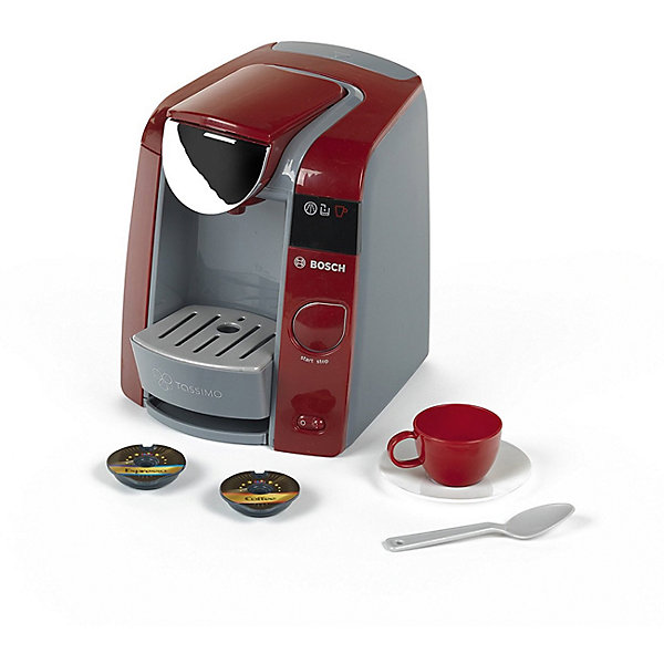 Игрушечная кофемашина Klein Bosch TassimoИгрушечная бытовая техника<br>Характеристики товара:<br><br>• в комплекте: кофемашина, 2 капсулы, чашка, блюдце, ложка;<br>• возраст: от 3 лет;<br>• материал: пластик;<br>• размер упаковки: 21х24х24 см;<br>• страна бренда: Германия.<br><br>Кофемашина Bosch очень напоминает свой прототип, благодаря чему девочка сможет почувствовать себя настоящей хозяюшкой. В комплект входят две капсулы, чашка, блюдце и ложка. Верхний резервуар заполняется водой, а при нажатии на кнопку вода попадает в чашку, как настоящий кофе. Игрушка реалистично имитирует процесс приготовления кофе. Кофемашина и аксессуары изготовлены из высококачественного пластика, безопасного для детей.<br><br>Кофемашину Bosch, Klein (Кляйн) можно купить в нашем интернет-магазине.<br>Ширина мм: 9999; Глубина мм: 9999; Высота мм: 9999; Вес г: 9999; Возраст от месяцев: 36; Возраст до месяцев: 2147483647; Пол: Мужской; Возраст: Детский; SKU: 7360176;