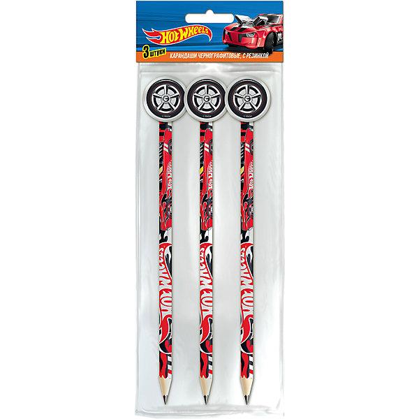 3 карандаша черногрфитовых с фигурной резинкой Hot WheelsHot Wheels<br>Характеристики:<br><br>• количество: 3шт.;<br>• материал: дерево ;<br>• упаковка: OPP-пакет;<br>• размер упаковки: 23х11х2см.;<br>• вес: 66г.;<br>• для детей в возрасте: от 3 лет.;<br>• страна производитель: Китай.<br><br>Набор черно графитовых карандашей с фигурной резинкой «Hot Wheels» (Хот Вилс) бренда «Limpopo» (Лимпопо), станет отличным приобретением для школьников. Он создан из качественных, экологически чистых материалов, что очень важно для детских товаров.<br><br>Карандаши имеют красочную печать на корпусе и ластик в виде фигурки, который может служить колпачком и предохранять их от поломки. Каждый карандаш выполнен из древесины высокого качества и прочным стержнем, который легко точится и не ломается. Твердость грифеля-HB.<br><br>Качественные простые карандаши необходимы для любого художественного начинания. Ребята могут их использовать не только для выполнения школьных заданий, но и для творчества. Записывать интересную и полезную информацию.<br><br>Набор черно графитовых карандашей с фигурной резинкой «Hot Wheels» (Хот Вилс) можно купить в нашем интернет-магазине.<br>Ширина мм: 230; Глубина мм: 110; Высота мм: 20; Вес г: 66; Возраст от месяцев: 36; Возраст до месяцев: 180; Пол: Мужской; Возраст: Детский; SKU: 7365724;