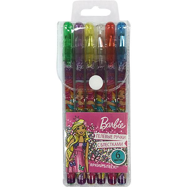 Набор гелевых глиттерных ручек Barbie 6 цветовBarbie<br>Характеристики:<br><br>• количество:6шт.;<br>• материал:пластик ;<br>• упаковка:OPP-пакет;<br>• размер упаковки: 17,5х6,5х1,5см.;<br>• вес: 50г.;<br>• для детей в возрасте: от 3 лет.;<br>• страна производитель: Китай.<br><br>Набор гелевых глитерных ручек «Barbie»(Барби) бренда «Limpopo» (Лимпопо), станет отличным приобретением для школьников. Он создан из качественных, экологически чистых материалов, что очень важно для детских товаров.<br><br> Ручки имеют красочную печать на корпусе и разноцветные колпачки, которые соответствуют цвету чернил. Всего в наборе шесть цветов. Каждая ручка выполнена из пластика высокого качества и заправлена глитерными чернилами. Они очень яркие и подходят для особо лёгкого и мягкого письма.<br><br>Качественные ручки необходимы для любого художественного начинания. Ребята могут их использовать не только для выполнения школьных заданий, но и для творчества. Записывать интересную и полезную информацию.<br><br>Набор гелевых глитерных ручек «Barbie»(Барби) можно купить в нашем интернет-магазине.<br>Ширина мм: 175; Глубина мм: 65; Высота мм: 15; Вес г: 50; Возраст от месяцев: 36; Возраст до месяцев: 180; Пол: Женский; Возраст: Детский; SKU: 7365725;