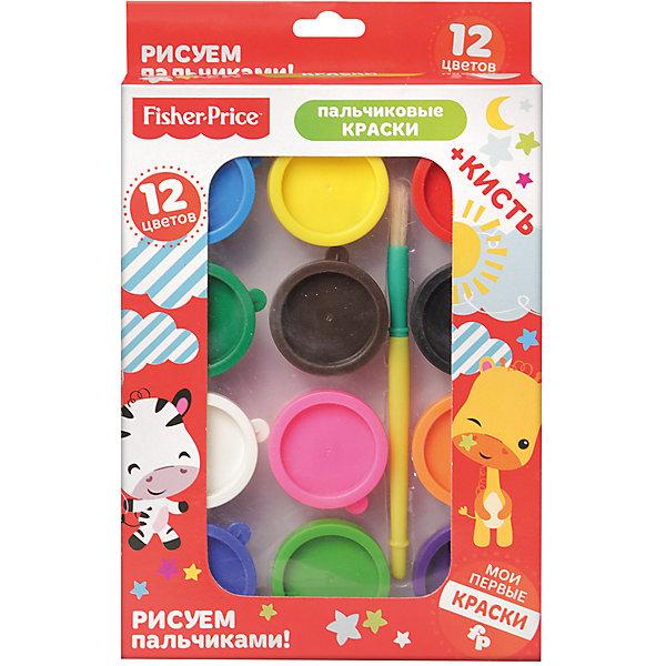 Пальчиковые краски Fisher Price 12 цветов + кисть