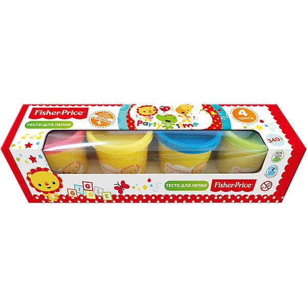 Тесто для лепки Fisher Price 4 цветаТесто для лепки<br>Характеристики:<br><br>• количество: 4шт.;<br>• материал упаковки: картон;<br>• упаковка: коробка;<br>• размер упаковки: 26х7х7см.;<br>• вес: 500г.;<br>• для детей в возрасте: от года.;<br>• страна производитель: Китай.<br><br>Набор теста для лепки Fisher Price (Фишер Прайс) бренда «Limpopo» (Лимпопо), станет отличным приобретением для малышей. Он создан из качественных, экологически чистых материалов, что очень важно для детских товаров.<br><br> Набор состоит из четырёх <br>баночек теста разного цвета. Специальная структура создана для малышей любящих лепить поделки своими руками. В её состав входят только пищевые красители на водной основе имеющие солёный вкус, что совершенно безопасно для ребёнка. Готовая поделка высыхает в течение суток и сохраняет яркость.<br><br>Лепка из теста доставляет большое удовольствие маленькому ребёнку, развивает его тактильные навыки, мелкую моторику и воображение.<br><br>Набор теста для лепки Fisher Price (Фишер Прайс) можно купить в нашем интернет-магазине.<br>Ширина мм: 260; Глубина мм: 70; Высота мм: 70; Вес г: 500; Возраст от месяцев: 12; Возраст до месяцев: 72; Пол: Унисекс; Возраст: Детский; SKU: 7365736;