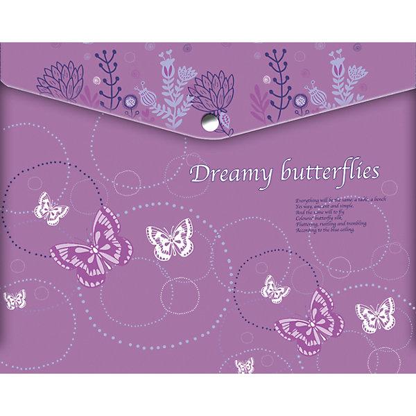 Папка-конверт Limpopo Dreamy Butterflies А4Папки для тетрадей<br>Характеристики:<br><br>• формат:А4;.<br>• Материал: полипропилен;<br>• размер папки: 25х21х0,5см.;<br>• вес: 20г.;<br>• для детей в возрасте: от 6лет.;<br>• страна производитель: Россия.<br><br>Папка для российских тетрадей «Dreamy Butterflues» (Дрими Батерфлайс) бренда «Limpopo» (Лимпопо), станет отличным приобретением для маленьких школьников. Она создана из качественных, экологически чистых материалов, что очень важно для детских товаров.<br><br>Красочно оформленная папка для тетрадей, выполненная в виде конверта с кнопкой не оставит равнодушным ни одного ребёнка. Дети с огромным удовольствием будут складывать туда свои школьные принадлежности.<br><br>Использование конверта без большого труда приучит ребёнка к аккуратности и он будет содержать свои вещи в образцовом порядке.<br> <br>Папку для российских тетрадей «Dreamy Butterflues» (Дрими Батерфлайс) можно купить в нашем интернет-магазине.<br>Ширина мм: 250; Глубина мм: 210; Высота мм: 50; Вес г: 20; Возраст от месяцев: 72; Возраст до месяцев: 2147483647; Пол: Женский; Возраст: Детский; SKU: 7365746;