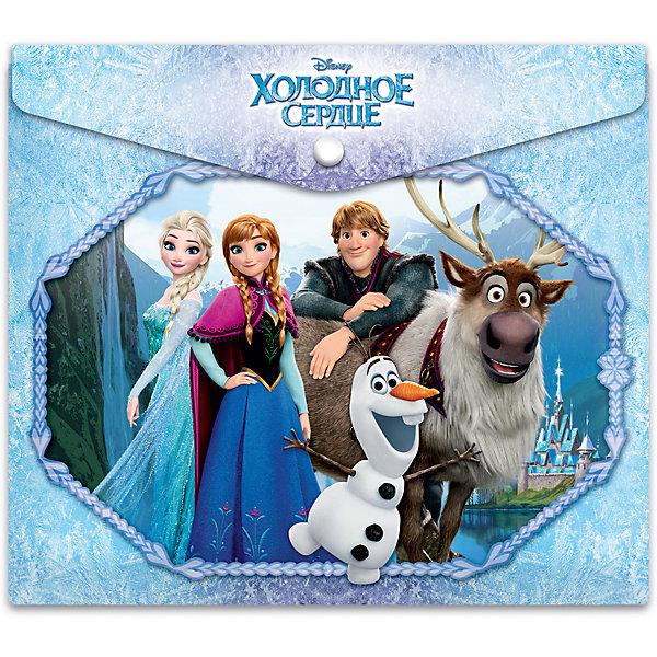 Папка-конверт  Disney Frozen, А4Папки для тетрадей<br>Характеристики:<br><br>• формат: А4;.<br>• материал: полипропилен;<br>• размер папки: 25х21х0,5см.;<br>• вес: 20г.;<br>• для детей в возрасте: от 6лет.;<br>• страна производитель: Россия.<br><br>Папка для российских тетрадей «Disney Frozen» (Дисней Фрозен) бренда «Limpopo» (Лимпопо), станет отличным приобретением для маленьких школьников. Она создана из качественных, экологически чистых материалов, что очень важно для детских товаров.<br><br>Красочно оформленная папка для тетрадей, выполненная в виде конверта с кнопкой не оставит равнодушным ни одного ребёнка. Дети с огромным удовольствием будут складывать туда свои школьные принадлежности.<br><br>Использование конверта без большого труда приучит ребёнка к аккуратности и он будет содержать свои вещи в образцовом порядке.<br> <br>Папку для российских тетрадей «Disney Frozen» (Дисней Фрозен) можно купить в нашем интернет-магазине.<br>Ширина мм: 250; Глубина мм: 210; Высота мм: 50; Вес г: 20; Возраст от месяцев: 72; Возраст до месяцев: 180; Пол: Женский; Возраст: Детский; SKU: 7365752;