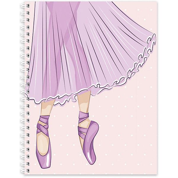 Тетрадь А5 96 листов в клетку Compliment Ballet, на гребнеБумажная продукция<br>Характеристики:<br><br>• формат: А5;<br>• количество страниц: 96;<br>• обложка: цветная;<br>• переплёт: спираль;<br>• состав: картон, бумага;<br>• вес: 219 г.;<br>• для детей в возрасте: от 7-х лет;<br>• страна производитель: Россия.<br><br>Тетрадь «Compliment Ballet (Комплимент балет) бренда «Limpopo» (Лимпопо) станет отличным пополнением школьных принадлежностей для детей. Она создана из высококачественных и экологически чистых материалов, что очень важно для детских товаров.<br><br>Красивая обложка и качественные белые листы, разлинованные в клетку приятно удивят любого школьника. Блок тетради соединён с помощью спирали, что позволяет без труда удалять использованные листы. Её можно использовать не только для выполнения школьных заданий, но и для записей любой интересной информации.<br><br>Тетрадь «Compliment Ballet» (Комплимент балет) можно купить в нашем интернет-магазине.<br>Ширина мм: 200; Глубина мм: 170; Высота мм: 10; Вес г: 219; Возраст от месяцев: 36; Возраст до месяцев: 2147483647; Пол: Женский; Возраст: Детский; SKU: 7365761;