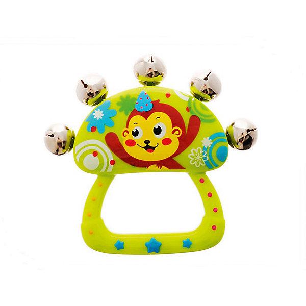 """Погремушка с бубенчиками Huile Toys ОбезьянкаИгрушки для новорожденных<br>HUILE, Игрушка детская """"Погремушка с бубенчиками"""", Y61237<br><br>Ширина мм: 90<br>Глубина мм: 80<br>Высота мм: 20<br>Вес г: 70<br>Возраст от месяцев: 3<br>Возраст до месяцев: 12<br>Пол: Унисекс<br>Возраст: Детский<br>SKU: 7365805"""
