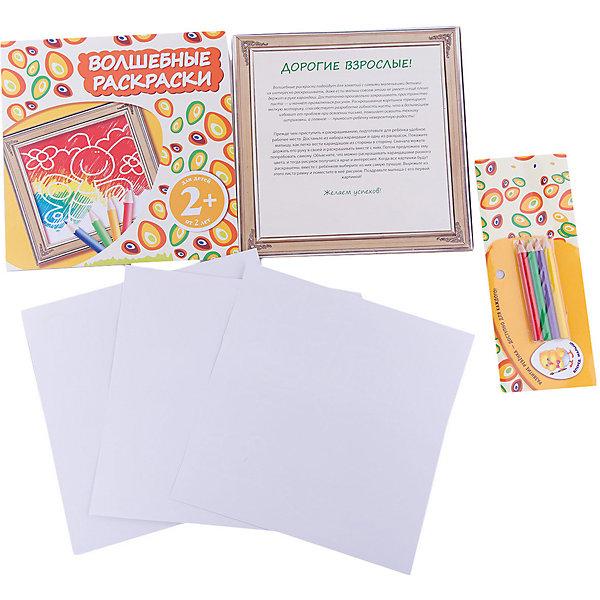 2+ Волшебные раскраски (бабочка)Раскраски для малышей<br>Характеристики:<br><br>• возраст: от 2 лет;<br>• ISBN9: 978-5-699-66595-2;<br>• редактор: Н. Цветкова;<br>• количество страниц: 6 (офсет);<br>• материал: бумага;<br>• вес: 60 гр;<br>• размер:  26x21x0,8 см; <br>• издательство: Эксмо.<br>   <br>Книга «2+ Волшебные раскраски (бабочка)» - это необыкновенные рельефные раскраски для самых маленьких! Просто закрась лист - и проявится рисунок! В набор входят карандаши.<br>Карандаши представлены 4 цветов: желтого, зеленого, красного и фиолетового.<br><br>Книгу  «2+ Волшебные раскраски (бабочка)» можно купить в нашем интернет-магазине.<br>Ширина мм: 260; Глубина мм: 210; Высота мм: 8; Вес г: 40; Возраст от месяцев: 24; Возраст до месяцев: 36; Пол: Унисекс; Возраст: Детский; SKU: 7367955;