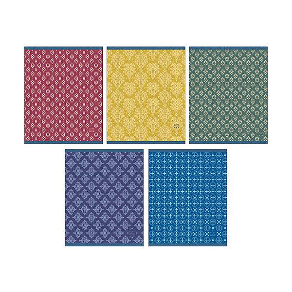 Однотонная с орнаментомБумажная продукция<br>Характеристики:<br><br>• возраст: от 7 лет<br>• в наборе: 1 тетрадь<br>• формат: А5<br>• количество листов: 48<br>• обложка: мелованный картон<br>• внутренний блок: офсет, плотностью 60 г/м2, клетка<br>• крепление: скрепка<br>• дизайн обложки в ассортименте (5 видов)<br>• ВНИМАНИЕ! Данный артикул представлен в разных вариантах исполнения. К сожалению, заранее выбрать определенный вариант невозможно. При заказе нескольких тетрадей возможно получение одинаковых<br><br>Тетрадь в клетку «Однотонная с орнаментом» предназначена для школьников. Отличная полиграфия и качественная бумага обеспечат высокое качество письма. Обложка из мелованного картона позволит сохранять тетрадь в аккуратном виде в течение всего периода использования.<br><br>Тетрадь «Однотонная с орнаментом» можно купить в нашем интернет-магазине.<br>Ширина мм: 202; Глубина мм: 4; Высота мм: 165; Вес г: 103; Возраст от месяцев: 84; Возраст до месяцев: 2147483647; Пол: Унисекс; Возраст: Детский; SKU: 7373864;