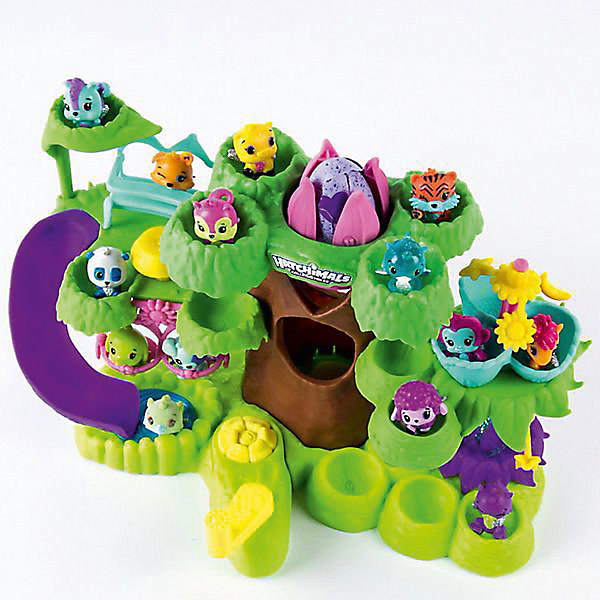Игровой набор Spin Master Hatchimals Детский сад для птенцовИгровые наборы с фигурками<br>Игровой набор Hatchimals. В наборе игровая площадка в виде дерева с качелями-каруселями, множество подвижных элементов + эксклюзивная коллекционная фигурка в яйце.<br>Ширина мм: 9999; Глубина мм: 9999; Высота мм: 9999; Вес г: 9999; Возраст от месяцев: 36; Возраст до месяцев: 2147483647; Пол: Унисекс; Возраст: Детский; SKU: 7373956;