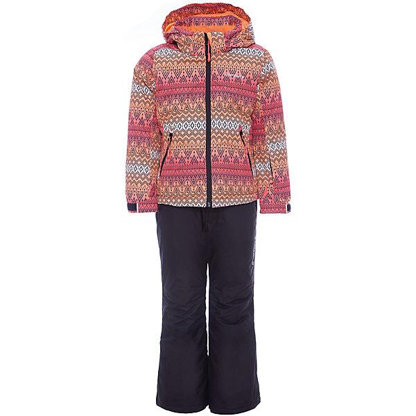 Комплект: куртка и брюки ICEPEAK для девочкиВерхняя одежда<br>Характеристики товара:<br><br>• цвет: розовый <br>• комплектация: куртка и брюки <br>• состав ткани: 100% полиэстер<br>• подкладка: 100% полиэстер<br>• утеплитель: 100% полиэстер<br>• сезон: зима<br>• температурный режим: от -25 до 0<br>• особенности модели: с капюшоном<br>• капюшон: без меха, съемный<br>• плотность утеплителя: 190/110 м2<br>• застежка: молния<br>• страна бренда: Финляндия<br>• страна изготовитель: Китай<br><br>Такой комплект для девочки дополнен светоотражающими элементами. Брюки - с лямками, куртка - с карманами, планкой от ветра, утяжкой по низу и капюшоном. Удобный теплый комплект для ребенка позволит наслаждаться зимой, не боясь замерзнуть. Оригинальный детский комплект для зимы от известного финского бренда Icepeak состоит из куртки и брюк. <br><br>Комплект: куртка и брюки Icepeak (Айспик) для девочки можно купить в нашем интернет-магазине.<br>Ширина мм: 356; Глубина мм: 10; Высота мм: 245; Вес г: 519; Цвет: розовый; Возраст от месяцев: 180; Возраст до месяцев: 192; Пол: Женский; Возраст: Детский; Размер: 176,116,128,140,152,164; SKU: 7373987;