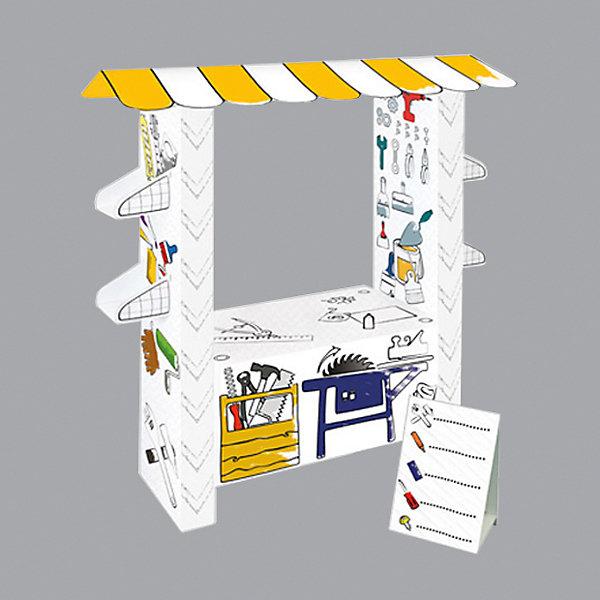 Игровой картонный домик-раскраска Мастерская,MochtoysМодели из бумаги<br>Характеристики:<br><br>• возраст: от 3 лет<br>• материал: картон<br>• размер в собранном виде: 40х95х110 см.<br>• вес: 2160 гр.<br>• размер упаковки: 40х95х11 см. <br>• ISBN: 5907442112207<br>• страна производства: Россия<br><br>Игровой домик-раскраска Мастерская от Mochtoys - это отличная идея для детского праздника дома или в детском саду. Это заготовка из прочного,  гипоаллергенного картона,которую дети смогут раскрасить сами фломастерами, карандашами или красками, собрать или в нужный момент разобрать при поддержке взрослых и устроить веселую игру. <br><br>Такая конструкция гораздо легче и дешевле пластиковых аналогов, легко и компактно складывается, но главное – предоставляет простор для детского обучения, развития, творчества и фантазии.<br><br>Игровой картонный домик-раскраску Мастерская,Mochtoys можно купить в нашем интернет-магазине.<br><br>Ширина мм: 400<br>Глубина мм: 950<br>Высота мм: 110<br>Вес г: 2160<br>Возраст от месяцев: 36<br>Возраст до месяцев: 2147483647<br>Пол: Унисекс<br>Возраст: Детский<br>SKU: 7375399