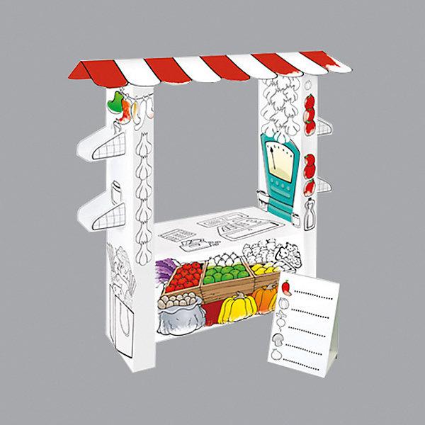 Игровой картонный домик-раскраска Супермаркет,MochtoysНаборы для раскрашивания<br>Характеристики:<br><br>• возраст: от 3 лет<br>• материал: картон<br>• размер в собранном виде: 40х95х110 см.<br>• вес: 2160 гр.<br>• размер упаковки: 40х95х11 см. <br>• ISBN: 5907442112191<br>• страна производства: Россия<br><br>Игровой домик-раскраска Супермаркет от Mochtoys - это отличная идея для детского праздника дома или в детском саду. Это заготовка из прочного,  гипоаллергенного картона,которую дети смогут раскрасить сами фломастерами, карандашами или красками, собрать или в нужный момент разобрать при поддержке взрослых и устроить веселую игру. <br><br>Такая конструкция гораздо легче и дешевле пластиковых аналогов, легко и компактно складывается, но главное – предоставляет простор для детского обучения, развития, творчества и фантазии.<br><br>Игровой картонный домик-раскраску Супермаркет,Mochtoys можно купить в нашем интернет-магазине.<br><br>Ширина мм: 400<br>Глубина мм: 950<br>Высота мм: 110<br>Вес г: 2160<br>Возраст от месяцев: 36<br>Возраст до месяцев: 2147483647<br>Пол: Унисекс<br>Возраст: Детский<br>SKU: 7375400