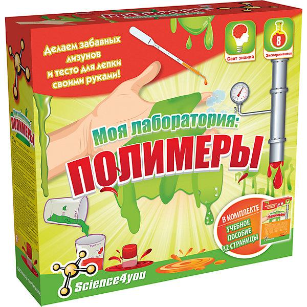 Science4you Набор опытов «Моя лаборатория: полимеры»Химия и физика<br>Характеристики товара:<br><br>• возраст: от 9 лет<br>• материалы: картон, пластик, реагенты.<br>• размер упаковки: 24 x 22 x 6.5 см.<br>• упаковка: картонная коробка.<br>• страна бренда: Португалия.<br><br>• Комплект: учебное пособие, защитные очки,перчатки, 2 лопаточки, 3 пипетки, большой мерный стакан,малый мерный стакан,контейнер, мука, реагенты, 2 красителя, колба.<br><br>Набор для опытов Моя лаборатория: Полимеры поможет ребенку поставить 8 интересных экспериментов. В ходе увлекательной игры ребенок больше узнает о таких науках, как химия и физика, и познакомится с полимерами. <br><br>Внимательно прочитав инструкцию, он сможет создать своими руками лизунов и тесто для лепки.<br><br>Все необходимое для проведения эксперимента можно найти в наборе - химические реактивы, колбы, лопатки, защитные очки и перчатки. Занятие с таким набором прививает интерес к наукам и развивает исследовательские навыки.<br><br>Набор для опытов Моя лаборатория: Полимеры можно купить в нашем интернет-магазине.<br><br>Ширина мм: 240<br>Глубина мм: 70<br>Высота мм: 220<br>Вес г: 477<br>Возраст от месяцев: 96<br>Возраст до месяцев: 2147483647<br>Пол: Унисекс<br>Возраст: Детский<br>SKU: 7376702