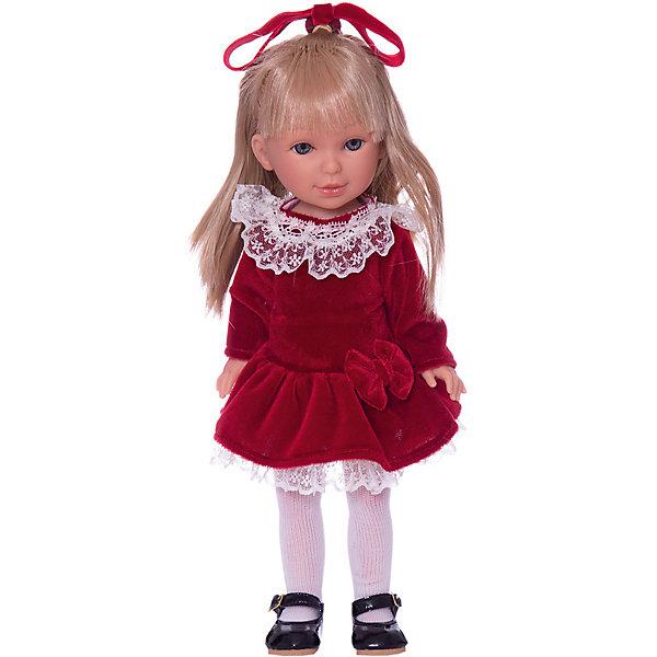 Классическая кукла Vestida de Azul Весна Кембридж Паулина блондинка с челкой, 33 смКуклы<br>Характеристики товара:<br><br>• возраст: от 3 лет;<br>• материал: пластик, винил;<br>• размер упаковки: 40х19х9 см;<br>• вес: 690 гр.;<br>•высота куклы: 33 см;<br>•страна производитель: Испания;<br>• бренд: Vestida de Azul.<br><br>Кукла от Испанского бренда Vestida de Azul Паулина приглашает каждую девочку поиграть с собой. У Паулины подвижные руки, ноги и голова, что делает игру с ней наиболее реалистичной.<br><br>У Паулины очень милое личико с красивыми голубыми глазами, пухлыми губами и длинными ресницами. Волосы у куклы очень похожи на натуральные, надежно прошиты, что позволит девочке причесывать куклу и укладывать ей волосы как ей захочется.<br><br>Одета кукла в красное бархатное платье с белым кружевом, белые колготки и аккуратные лаковые туфельки. На голове Паулины красный бант, подходящий к платью по цвету. Весь образ напоминает элегантную школьницу.<br><br>Куклу Vestida de Azul Паулина Весна Кембридж можно купить в нашем интернет-магазине.<br>Ширина мм: 410; Глубина мм: 110; Высота мм: 220; Вес г: 700; Возраст от месяцев: 36; Возраст до месяцев: 2147483647; Пол: Женский; Возраст: Детский; SKU: 7376711;