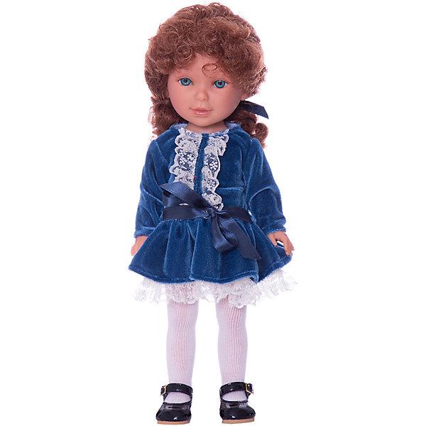 Классическая кукла Vestida de Azul Весна Санкт-Петербург Паулина рыжая кудряшка, 33 смКуклы<br>Характеристики товара:<br><br>• возраст: от 3 лет;<br>• материал: пластик, винил;<br>• размер упаковки: 40х19х9 см;<br>• вес: 690 гр.;<br>•высота куклы: 33 см;<br>•страна производитель: Испания;<br>• бренд: Vestida de Azul.<br><br>Кукла от Испанского бренда Vestida de Azul Паулина приглашает каждую девочку поиграть с собой. У Паулины подвижные руки, ноги и голова, что делает игру с ней наиболее реалистичной.<br><br>У Паулины очень милое личико с веснушками, красивыми голубыми глазами, пухлыми губами и длинными ресницами. Рыжие кудрявые волосы у куклы очень похожи на натуральные, надежно прошиты, что позволит девочке причесывать куклу и укладывать ей волосы как ей захочется.<br><br>Одета кукла в синее бархатное платье с белым кружевом, белые колготки и аккуратные лаковые туфельки. Весь образ навевает тёплое весеннее настроение.<br><br>Куклу Vestida de Azul Паулина Весна Санкт-Петербург можно купить в нашем интернет-магазине.<br>Ширина мм: 410; Глубина мм: 110; Высота мм: 220; Вес г: 700; Возраст от месяцев: 36; Возраст до месяцев: 2147483647; Пол: Женский; Возраст: Детский; SKU: 7376712;
