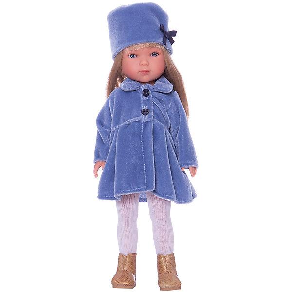 Классическая кукла Vestida de Azul Снегурочка Карлотта блондинка с челкой, 28 смКуклы<br>Характеристики товара:<br><br>• возраст: от 3 лет;<br>• материал: пластик, винил;<br>• размер упаковки: 35х20х10 см;<br>• вес: 500 гр.;<br>•высота куклы: 28 см;<br>•страна производитель: Испания;<br>• бренд: Vestida de Azul.<br><br>Кукла от Испанского бренда Vestida de Azul Карлотта приглашает каждую девочку поиграть с собой. У Карлотты подвижные руки, ноги и голова, что делает игру с ней наиболее реалистичной.<br><br>У Карлотты очень милое личико с красивыми голубыми глазами, пухлыми губами и длинными ресницами. Волосы у куклы очень похожи на натуральные и надежно прошиты.<br><br>Одета кукла в элегантное голубое бархатное пальто и шляпку, белые колготки и золотистые сапожки. Образ Карлотты напоминает наряд снегурочки.<br><br>Куклу Vestida de Azul Карлотта Снегурочка можно купить в нашем интернет-магазине.<br><br>Ширина мм: 350<br>Глубина мм: 100<br>Высота мм: 200<br>Вес г: 380<br>Возраст от месяцев: 36<br>Возраст до месяцев: 2147483647<br>Пол: Женский<br>Возраст: Детский<br>SKU: 7376714
