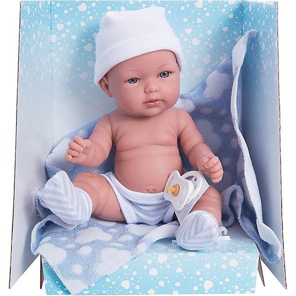 Кукла-пупс Vestida de Azul Soft Touch Томми в памперсах, 30 смКуклы<br>Характеристики товара:<br><br>• возраст: от 3 лет;<br>• материал: пластик, винил;<br>• размер упаковки: 38х42х12 см;<br>• вес: 650 гр.;<br>•высота куклы: 30 см;<br>•страна производитель: Испания;<br>• бренд: Vestida de Azul.<br><br>Малыш Томи ждет девочек, которые мечтают попробовать себя в роли заботливой мамочки. У него подвижные руки, ноги и голова, что делает игру с ним наиболее реалистичной.<br><br>Внешность куклы детально похожа на самого настоящего малыша: у него множество складочек на теле как у младенцев, сжатые кулачки, пухлые щёчки с приоткрытым ротиком и милыми серыми глазками.<br><br>Одет малыш в полосатые бело-голубые трусики и носочки, а также детскую шапочку. В комплекте с этим прилагается детское одеяльце с изображением облачков.<br><br>Куклу Томи серия soft touch можно купить в нашем интернет-магазине.<br><br>Ширина мм: 380<br>Глубина мм: 120<br>Высота мм: 240<br>Вес г: 650<br>Возраст от месяцев: 36<br>Возраст до месяцев: 2147483647<br>Пол: Женский<br>Возраст: Детский<br>SKU: 7376715