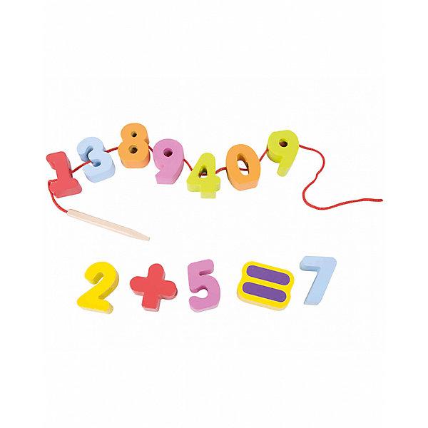 Игра-шнуровка Classic World Веселая математикаДеревянные игрушки<br>Характеристики товара:<br><br>• возраст: от 1 года;<br>• материал: дерево, полипропилен;<br>• размер упаковки: 40х5х2 см;<br>• вес: 240 гр;<br>•страна производитель: Китай;<br>• бренд: Classic World.<br><br>Оригинальная игра-шнуровка «Веселая математика» с крупными фигурками из дерева помогает развивать мелкую моторику, речь и логику малышей. В фигурки малыш может играть как сам, так и с родителями в развивающем ключе.<br><br>Каждая фигурка представляет собой яркую цифру, размеров 4 на 2 сантиметра. Нанизывая фигурки на шнур длинной 45 сантиметров, ребенок сможет выучить цифры и их порядок. А детишек постарше эта игра может научить сложению и составлению рядов: четных и нечетных. <br><br>Игрушка изготовлена из экологически чистого дерева и окрашена вручную безопасными детскими красками.<br><br>Развивающую игру-шнуровку «Весёлая математика» можно купить в нашем интернет-магазине.<br>Ширина мм: 80; Глубина мм: 40; Высота мм: 250; Вес г: 170; Возраст от месяцев: 12; Возраст до месяцев: 2147483647; Пол: Унисекс; Возраст: Детский; SKU: 7376725;