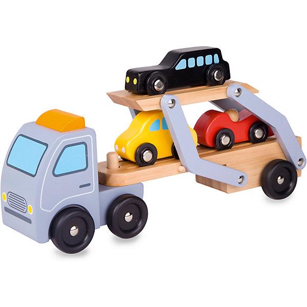 Деревянная машинка-каталка Classic World АвтовозМашинки<br>Характеристики товара:<br>• возраст: от 2 лет;<br>• материал: дерево;<br>• размер упаковки: 28х7х14 см;<br>• вес: 500 гр;<br>•страна производитель: Китай;<br>• бренд: Classic World.<br><br>Игрушка-каталка Автовоз включает в себя большую каталку в виде автовоза и три дополнительные мини-машинки, помещающиеся в корпус основного транспорта.<br><br>Игрушка каталка с самого малого возраста развивает мелкую моторику, координацию движений и активность ребенка. А интересный дизайн подсказывает множество сюжетно-ролевых игр, что формирует фантазию и воображение малыша.<br><br>Все детали изготовлены из экологически чистого соснового массива дерева и окрашены вручную безопасными детскими красками.<br><br>Игрушку-каталку Classic World Автовоз можно купить в нашем интернет-магазине.<br>Ширина мм: 320; Глубина мм: 130; Высота мм: 80; Вес г: 500; Возраст от месяцев: 36; Возраст до месяцев: 2147483647; Пол: Мужской; Возраст: Детский; SKU: 7376729;