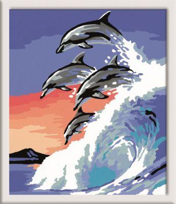 Ravensburger Раскрашивание по номерам «Дельфины» Размер картинки – 18*24 см фото-1