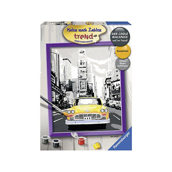 Раскрашивание по номерам «Такси в Нью-Йорке» Размер картинки – 24*30 смРаскраски по номерам<br>Характеристики:<br><br>• тип игрушки: набор для детского творчества;<br>• комплектация: фактурная картонная основа с пронумерованными контурами, акриловые краски, кисть, контрольный лист;<br>• бренд: Ravensburger;<br>• упаковка: картон;<br>• размер: 36х4х26,5 см;<br>• вес: 673 гр;<br>• размер картины: 30х24 см;<br>• возраст: от 9 лет;<br>• материал: картон, акрил, пластик.<br><br>Раскрашивание по номерам «Такси в Нью-Йорке» станет отличным подарком как для взрослого, так и для ребенка от девяти лет. На данной картине изображена визитная карочка города – желтое такси, на фоне черно-белого города.               <br>Рисовать картины в такой технике очень просто и доступно, даже если ребенок не имеет художественных навыков. Это связанно с тем, что полотно картины разбито на пронумерованные сектора, которым соответствует определенный цвет краски. Прежде чем приступить к раскрашиванию самой картины, можно будет потренироваться на отдельной палитре. Каждая баночка с красками плотно запечатана.<br><br>Такая картина станет отличным украшением интерьера и на долгое время увлечет ребенка. При этом с таким подарком у ребенка будет развиваться усидчивость и мелкая моторика рук.<br><br>Раскрашивание по номерам «Такси в Нью-Йорке» можно купить в нашем интернет-магазине.<br><br>Ширина мм: 265<br>Глубина мм: 45<br>Высота мм: 360<br>Вес г: 641<br>Возраст от месяцев: -2147483648<br>Возраст до месяцев: 2147483647<br>Пол: Унисекс<br>Возраст: Детский<br>SKU: 7376773