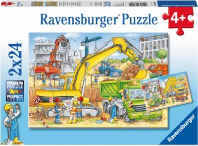 Ravensburger Пазл «Стройка за окном» 2х24шт