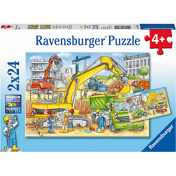 Пазл «Стройка за окном» 2х24штПазлы до 24 деталей<br>Характеристики:<br><br>• тип игрушки: пазл;<br>• комплектация: 48 эл.;<br>• бренд: Ravensburger;<br>• упаковка: картон;<br>• размер: 28х5х19 см;<br>• вес: 293 гр;<br>• возраст: от 3 лет;<br>• материал: картон.<br><br>Пазл «Стройка за окном» 2х24шт представляет из себя увлекательную игру для детей от трех лет. Набор состоит из 48 деталей, выполненных из высококачественного картона.  <br>Этот набор состоит из двух красочных пазлов, каждый из которых состоит из двадцати четырех элементов. Из комплекта пазлов можно собрать   две яркие картинки с изображением стройки.<br><br>Сборка данного пазла сможет увлечь детей и поспособствовать развитию логического мышления и усидчивости. Собранный пазл можно повесить в рамке как  украшение. Собирание картинок-пазлов очень полезно для детей. Они развивают образное и логическое мышление, наблюдательность и внимательность, а также мелкую моторику и координацию движений рук.<br><br>Пазл «Стройка за окном» 2х24шт можно купить в нашем интернет-магазине.<br><br>Ширина мм: 280<br>Глубина мм: 40<br>Высота мм: 190<br>Вес г: 293<br>Возраст от месяцев: -2147483648<br>Возраст до месяцев: 2147483647<br>Пол: Унисекс<br>Возраст: Детский<br>SKU: 7376822