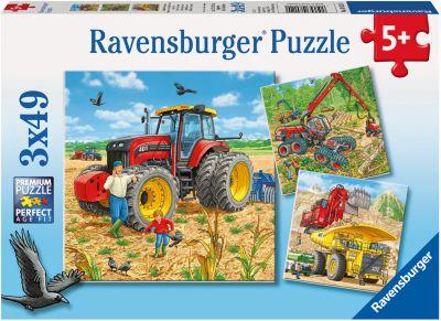 Ravensburger Пазл «Строительная Техника» 3Х49Шт