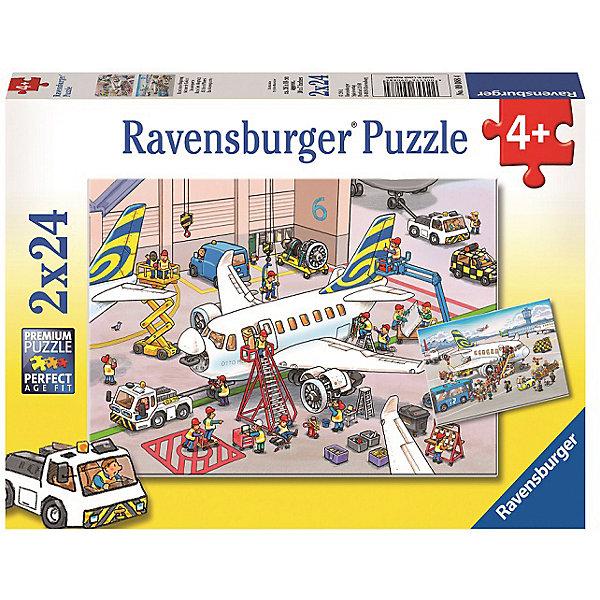 Пазл «Все о самолетах»  2х24штПазлы до 24 деталей<br>Характеристики:<br><br>• тип игрушки: пазл;<br>• комплектация: 48 эл.;<br>• бренд: Ravensburger;<br>• упаковка: картон;<br>• размер: 28х4х19 см;<br>• вес: 293 гр;<br>• возраст: от 4 лет;<br>• материал: картон.<br><br>Пазл «Все о самолетах» 2х24шт представляет из себя увлекательную игру для детей от четырех лет. Набор состоит из 48 деталей, выполненных из высококачественного картона. В наборе есть две красочные  картинки с изображением самолетов. Такая картинка особенно понравится мальчикам.<br><br>Пазл сделан из плотного картона, с нанесением яркого красочного рисунка и аккуратной вырубкой деталей с четкими гладкими краями, которые позволяют легко состыковывать элементы пазла между собой. Сборка данного пазла сможет увлечь детей и поспособствовать развитию логического мышления и усидчивости.  Они также развивают образное мышление, наблюдательность и внимательность, а также мелкую моторику и координацию движений рук.<br><br>Пазл «Все о самолетах» 2х24шт можно купить в нашем интернет-магазине.<br>Ширина мм: 280; Глубина мм: 40; Высота мм: 190; Вес г: 293; Возраст от месяцев: -2147483648; Возраст до месяцев: 2147483647; Пол: Унисекс; Возраст: Детский; SKU: 7376843;