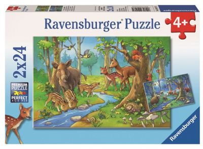 Ravensburger Пазл «Лесные жители» 2х24шт