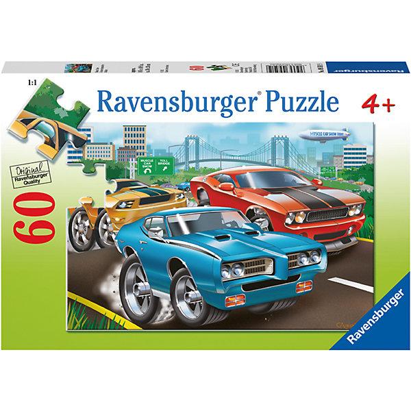 Пазл «Гоночные машины» 60 штПазлы до 64 деталей<br>Характеристики:<br><br>• тип игрушки: пазл;<br>• комплектация: 60 эл.;<br>• бренд: Ravensburger;<br>• упаковка: картон;<br>• размер: 28х4х19 см;<br>• вес: 311 гр;<br>• возраст: от 4 лет;<br>• материал: картон.<br><br>Пазл «Гоночные машины» 60 шт представляет из себя увлекательную игру для детей от четырех лет. Набор состоит из 60 деталей, выполненных из высококачественного картона. Собрав все элементы воедино, ребенок увидит замечательную картину с изображением гоночных автомобилей, что непременно порадует маленького автолюбителя.<br><br> Пазл сделан из плотного картона, с нанесением яркого красочного рисунка и аккуратной вырубкой деталей с четкими гладкими краями, которые позволяют легко состыковывать элементы пазла между собой. Сборка данного пазла сможет увлечь детей и поспособствовать развитию логического мышления и усидчивости.  Они также развивают образное мышление, наблюдательность и внимательность, а также мелкую моторику и координацию движений рук.<br><br>Пазл «Гоночные машины» 60 шт можно купить в нашем интернет-магазине.<br>Ширина мм: 280; Глубина мм: 40; Высота мм: 190; Вес г: 311; Возраст от месяцев: -2147483648; Возраст до месяцев: 2147483647; Пол: Мужской; Возраст: Детский; SKU: 7376854;