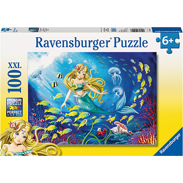 Пазл Маленькая Русалочка XXL 100 штПазлы для малышей<br>Характеристики:<br><br>• тип игрушки: пазл;<br>• комплектация: 100 эл.;<br>• бренд: Ravensburger;<br>• упаковка: картон;<br>• размер: 34х4х23 см;<br>• вес: 567 гр;<br>• возраст: от 7 лет;<br>• материал: картон.<br><br>Пазл «Маленькая Русалочка» XXL 100 шт представляет из себя увлекательную игру для детей от семи лет. Набор состоит из 100 деталей, выполненных из высококачественного картона. Из них предлагается собрать изображение русалочки и подводного мира. <br><br>Пазл сделан из плотного картона, с нанесением яркого красочного рисунка и аккуратной вырубкой деталей с четкими гладкими краями, которые позволяют легко состыковывать элементы пазла между собой. Сборка данного пазла сможет увлечь детей и поспособствовать развитию логического мышления и усидчивости.  Они также развивают образное мышление, наблюдательность и внимательность, а также мелкую моторику и координацию движений рук.<br><br>Пазл «Маленькая Русалочка» XXL 100 шт можно купить в нашем интернет-магазине.<br>Ширина мм: 340; Глубина мм: 40; Высота мм: 230; Вес г: 567; Возраст от месяцев: -2147483648; Возраст до месяцев: 2147483647; Пол: Женский; Возраст: Детский; SKU: 7376866;