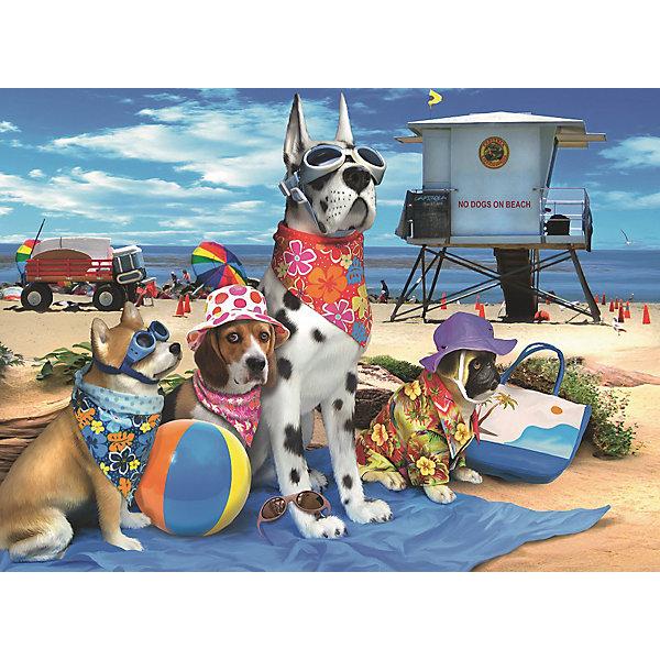 Пазл «Собаки на пляже» XXL 100 штПазлы до 100 деталей<br>Характеристики:<br><br>• тип игрушки: пазл;<br>• комплектация: 100 эл.;<br>• бренд: Ravensburger;<br>• упаковка: картон;<br>• размер: 34х4х23 см;<br>• вес: 567 гр;<br>• возраст: от 6 лет;<br>• материал: картон.<br><br>Пазл «Собаки на пляже» XXL 100 шт представляет из себя увлекательную игру для детей от шести лет. Набор состоит из 100 деталей, выполненных из высококачественного картона. Из них предлагается собрать изображение четырех забавных собак в полной пляжной экипировке. Головоломки Ravensburger всегда отличаются высоким качеством полиграфии, изготовлены из экологичного сырья.   Рисунок имеет матовую поверхность без бликов, напечатан на ламинированной бумаге. <br><br>Пазл сделан из плотного картона, с нанесением яркого красочного рисунка и аккуратной вырубкой деталей с четкими гладкими краями, которые позволяют легко состыковывать элементы пазла между собой. Сборка данного пазла сможет увлечь детей и поспособствовать развитию логического мышления и усидчивости.  Они также развивают образное мышление, наблюдательность и внимательность, а также мелкую моторику и координацию движений рук.<br><br>Пазл «Собаки на пляже» XXL 100 шт можно купить в нашем интернет-магазине.<br><br>Ширина мм: 340<br>Глубина мм: 40<br>Высота мм: 230<br>Вес г: 567<br>Возраст от месяцев: -2147483648<br>Возраст до месяцев: 2147483647<br>Пол: Унисекс<br>Возраст: Детский<br>SKU: 7376867