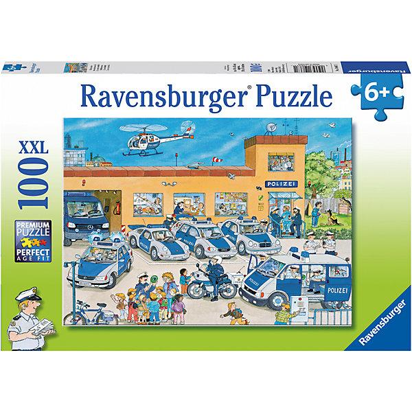 Пазл «Полицейский участок» XXL 100 штПазлы до 100 деталей<br>Характеристики:<br><br>• тип игрушки: пазл;<br>• комплектация: 100 эл.;<br>• бренд: Ravensburger;<br>• упаковка: картон;<br>• размер: 34х4х23 см;<br>• вес: 571 гр;<br>• возраст: от 6 лет;<br>• материал: картон.<br><br>Пазл «Полицейский участок» XXL 100 шт представляет из себя увлекательную игру для детей от шести лет. Набор состоит из 100 деталей, выполненных из высококачественного картона. Из них предлагается собрать изображение полицейского участка. Головоломки Ravensburger всегда отличаются высоким качеством полиграфии, изготовлены из экологичного сырья.   Рисунок имеет матовую поверхность без бликов, напечатан на ламинированной бумаге. <br><br>Пазл сделан из плотного картона, с нанесением яркого красочного рисунка и аккуратной вырубкой деталей с четкими гладкими краями, которые позволяют легко состыковывать элементы пазла между собой. Сборка данного пазла сможет увлечь детей и поспособствовать развитию логического мышления и усидчивости.  Они также развивают образное мышление, наблюдательность и внимательность, а также мелкую моторику и координацию движений рук.<br><br>Пазл «Полицейский участок» XXL 100 шт можно купить в нашем интернет-магазине.<br><br>Ширина мм: 340<br>Глубина мм: 40<br>Высота мм: 230<br>Вес г: 571<br>Возраст от месяцев: -2147483648<br>Возраст до месяцев: 2147483647<br>Пол: Мужской<br>Возраст: Детский<br>SKU: 7376883