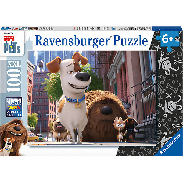 Пазл Тайная жизнь домашних животных. Макс и друзья XXL 100 штТайная жизнь домашних животных<br>Характеристики:<br><br>• тип игрушки: пазл;<br>• комплектация: 100 эл.;<br>• бренд: Ravensburger;<br>• упаковка: картон;<br>• размер: 34х4х23 см;<br>• вес: 571 гр;<br>• возраст: от 6 лет;<br>• материал: картон.<br><br>Пазл «Тайная жизнь домашних животных. Макс и друзья» XXL 100 шт представляет из себя увлекательную игру для детей от шести лет. Набор состоит из 100 деталей, выполненных из высококачественного картона. Из них предлагается собрать изображение в виде сюжета из одноименного мультфильма. Головоломки Ravensburger всегда отличаются высоким качеством полиграфии, изготовлены из экологичного сырья.   Рисунок имеет матовую поверхность без бликов, напечатан на ламинированной бумаге. <br><br>Пазл сделан из плотного картона, с нанесением яркого красочного рисунка и аккуратной вырубкой деталей с четкими гладкими краями, которые позволяют легко состыковывать элементы пазла между собой. Сборка данного пазла сможет увлечь детей и поспособствовать развитию логического мышления и усидчивости.  Они также развивают образное мышление, наблюдательность и внимательность, а также мелкую моторику и координацию движений рук.<br><br>Пазл «Тайная жизнь домашних животных. Макс и друзья» XXL 100 шт можно купить в нашем интернет-магазине.<br>Ширина мм: 340; Глубина мм: 40; Высота мм: 230; Вес г: 571; Возраст от месяцев: -2147483648; Возраст до месяцев: 2147483647; Пол: Унисекс; Возраст: Детский; SKU: 7376884;
