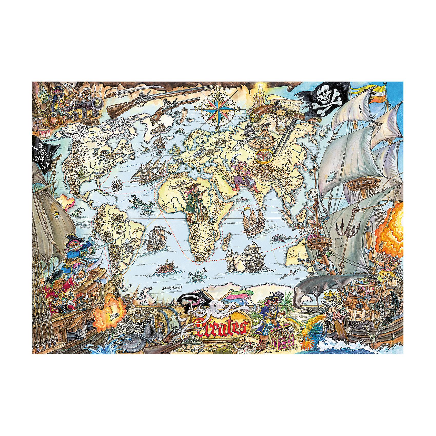 Пазл «Пиратская карта» XXL 200 шт от myToys